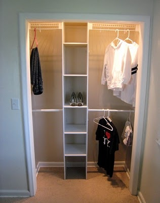 Remove Old Hanging Rod And Add Shelves And Extra Rods For