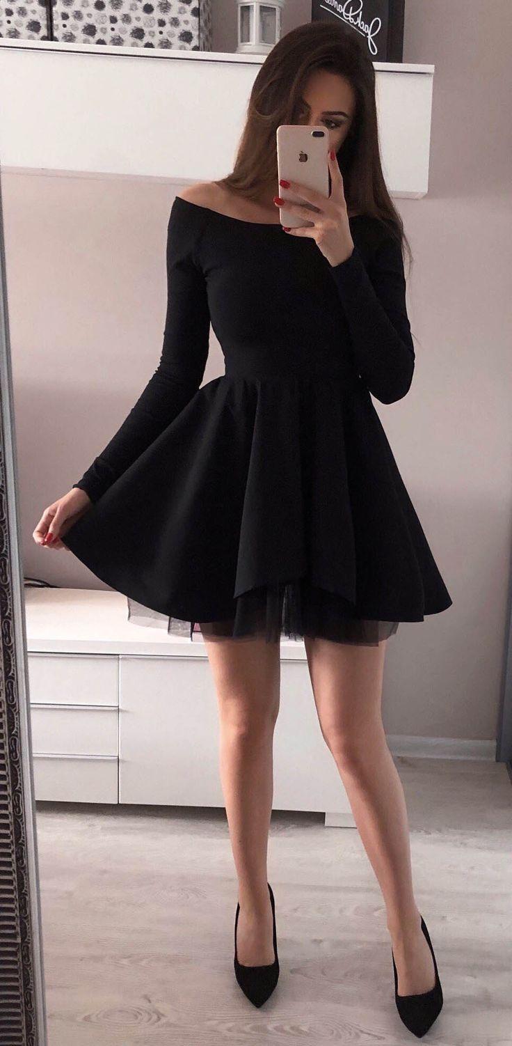 Simple Hoco Dresses Black Homecoming Dresses Short Prom