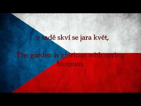 Czech Republic National Anthem with English translation of lyrics displayed