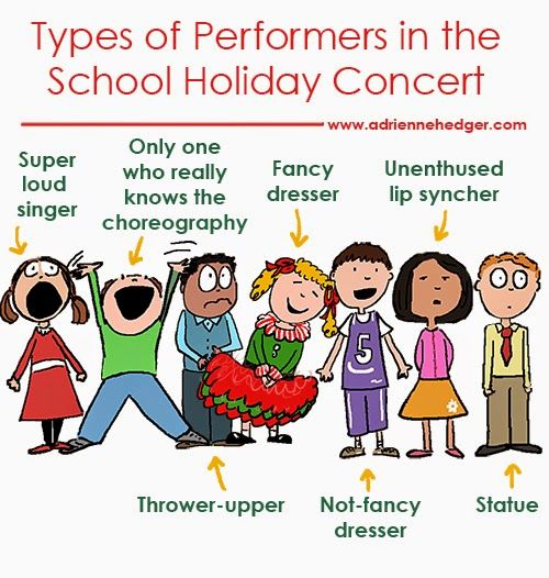 Types of Performers in the School Holiday Concert