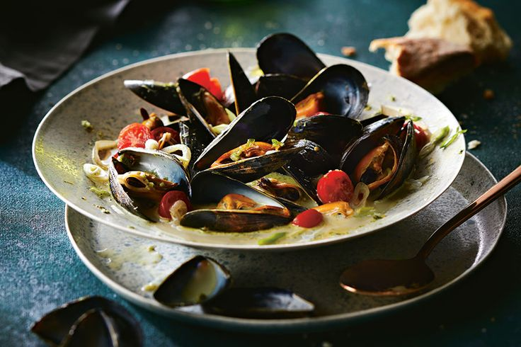 While you don't want to overwhelm seafood with too much spice, these mussels can take a hit of curry because the creamy sauce tempers the heat. Serve with crusty bread for sopping up the delicious broth.