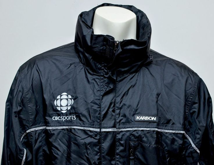 Karbon CBC Sports Broadcaster Sportscaster Black Nylon Jacket Size Large #Karbon #BasicJacket