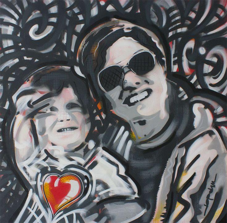 Schilderij Mother and Son | JopVorm Vormgeving Hoofddorp