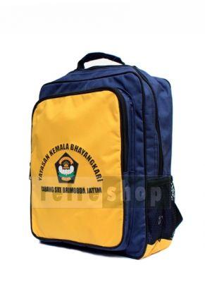 Tas sekolah dengan warna kuning dan biru tua ini juga bisa menjadi pilihan dan alternatif buat Anda yang ingin memesan tas sekolah. Tas dengan kode TSK 1 ini adalah tas yang harganya terjangkau dan cocok sekali untuk anak Paud Dan TK ataupun SD.