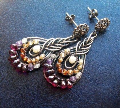 Handmade earrings.  Fair Masters - handmade earrings Delica.  Handmade.
