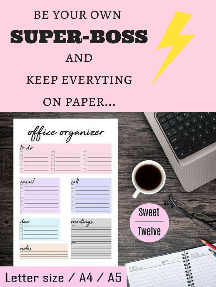 I love this printable! :) This would be perfect to my office. <3 I can plan my day and keep everything in my mind. This office organizer planner could save lot of time. :)    #printable #digital #print #office #organization #daily #plan #ad