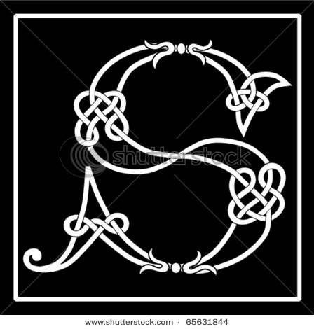 Celtic Initial...stencil ?   pillow?  wall art?