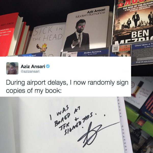 And when he admitted to doing what every author should secretly do. | 22 Times Aziz Ansari Was A Joy To Follow On Twitter