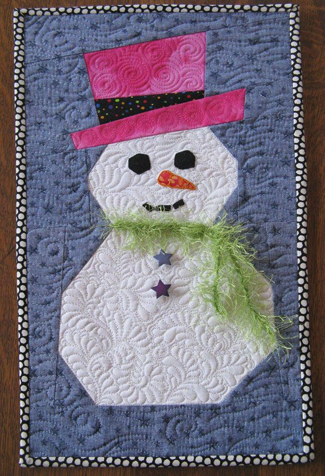 Snowman Pattern - Paper Piecing with Freezer Paper