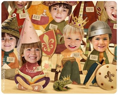 """Hoy os queremos enseñar una nueva versión de nuestra ORLA """"Decid patata"""". Para princesas guerreras, valientes caballeros, hermosas damas, hadas, sapos hechizados e intrépidos arqueros. ¡A los peques y maestras les encanta! http://patadepirata.blogspot.com.es/search/label/Para%20la%20Escuela"""