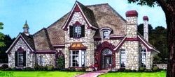 English country / Tudor house plans.Country Style House