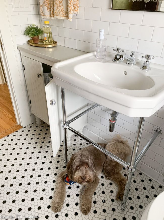 The Ikea Silveran Sink Cabinet Is Customized With A Quartz Countertop And Wooden Legs It Is The Perfect Small Ikea Silveran Ikea Bathroom Ikea Bathroom Vanity