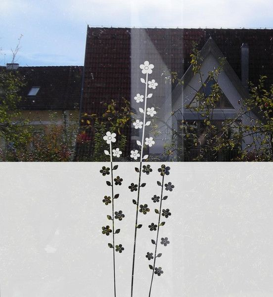 Sichtschutz+Folie+fürs+Fenster+mit+Blumen++von+Musterladen+-+Wandtattoos,+Fenstertattoos+und+Wohnaccessoires+auf+DaWanda.com