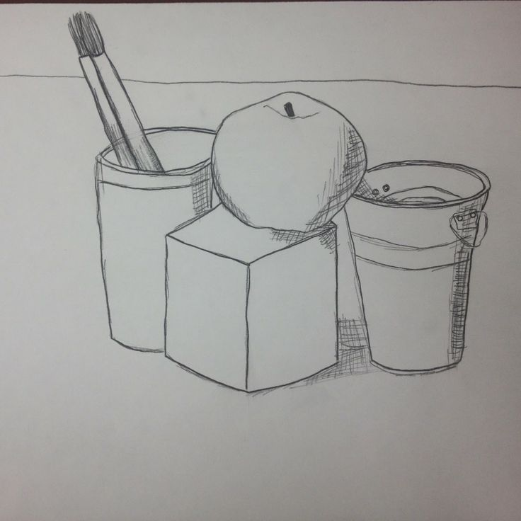 6th Grade Art Contour Line Still Life Drawings. Could be used for Middle School Art, or High School Art as well.