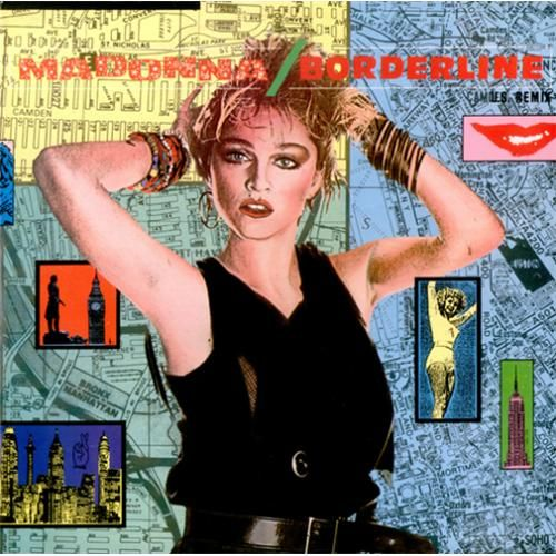 """For Sale -Madonna Borderline UK  12"""" vinyl single (12 inch record / Maxi-single)- See this and 250,000 other rare and vintage records & CDs at http://eil.com/"""