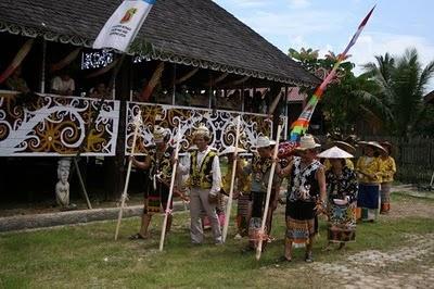 Lamin Tradional House - Dayak Tribes - Kutai - East Kalimantan