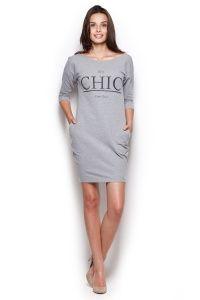 Dresowa sukienka z dekoltem na plecach dostępna w sklepie internetowym GrandeSaldi.