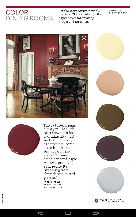 Dining room paint color s