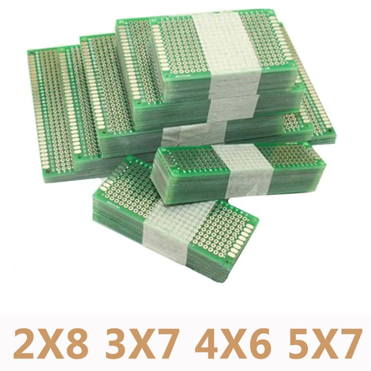 20pcs/lot 5x7 4x6 3x7 2x8cm Double Side Prototype Diy Universal Printed Circuit PCB Board Protoboard For Arduino