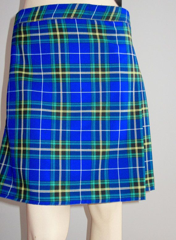95209e1fe Ladies Kilt Nova Scotia Kilt in Blue Yellow Black Plaid Kilt ...