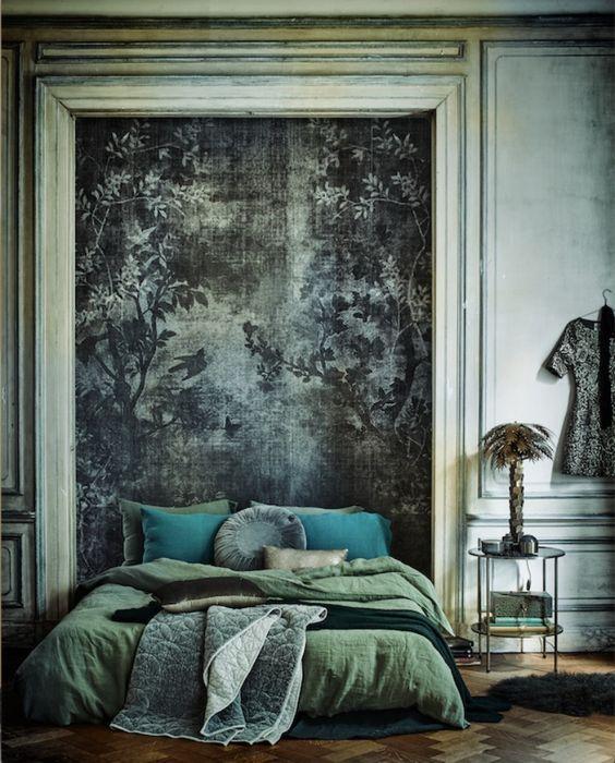 Moss Green Linen Duvet Cover, Warm and Cozy