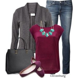 love the burgundy with the gray-No. 421 - Weekend style