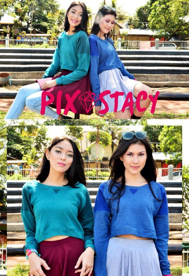 GREEN // BLUE POPSICLE (Crop Sweater, 135K)