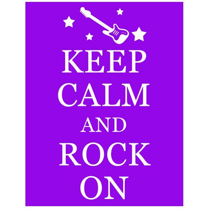Rockstar Printable Keep Calm Sign #rockstar #printable