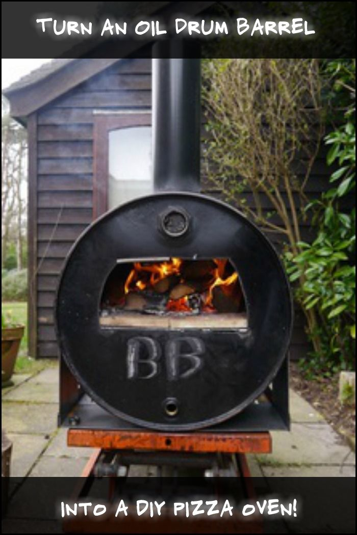 Enjoy homemade pizza by turning an oil drum barrel into a pizza oven!