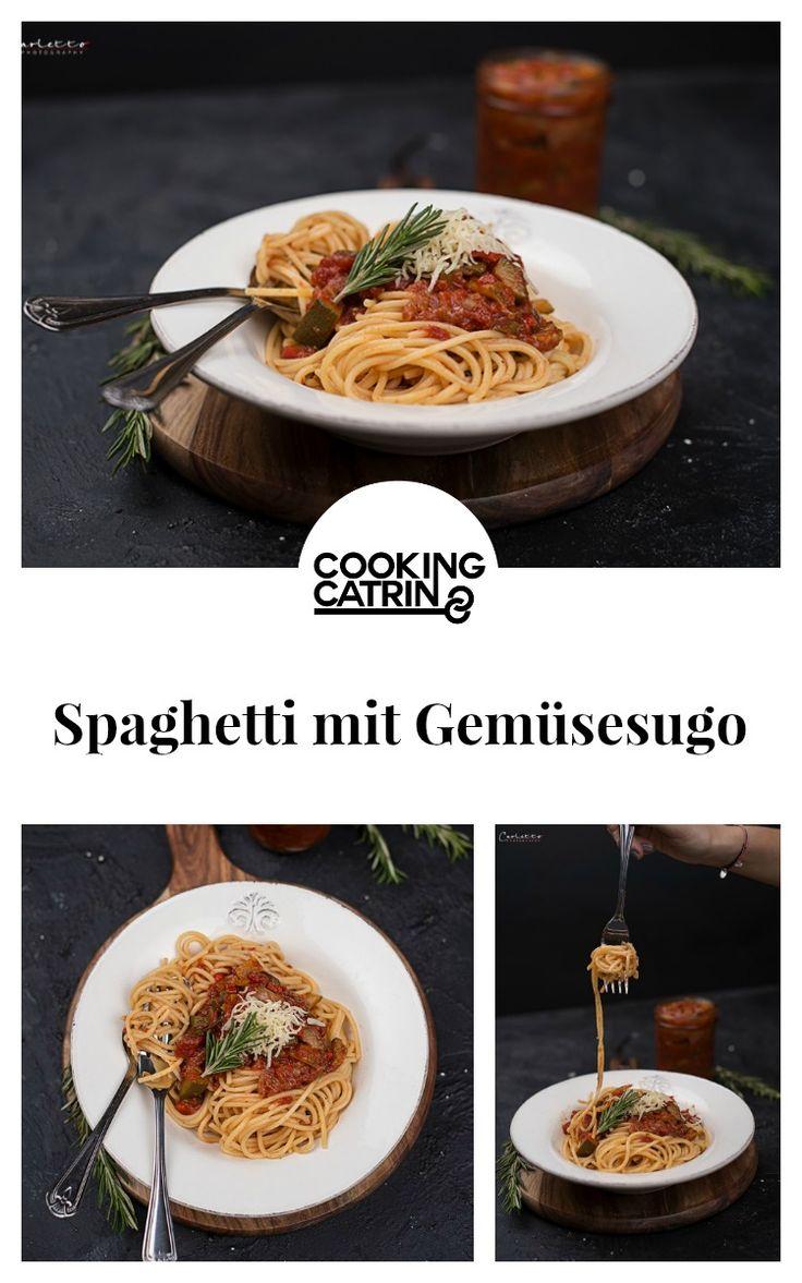 Spaghetti, Nudeln, noodles, gemüse, veggie, vegetables, sugo, sauce, lunch