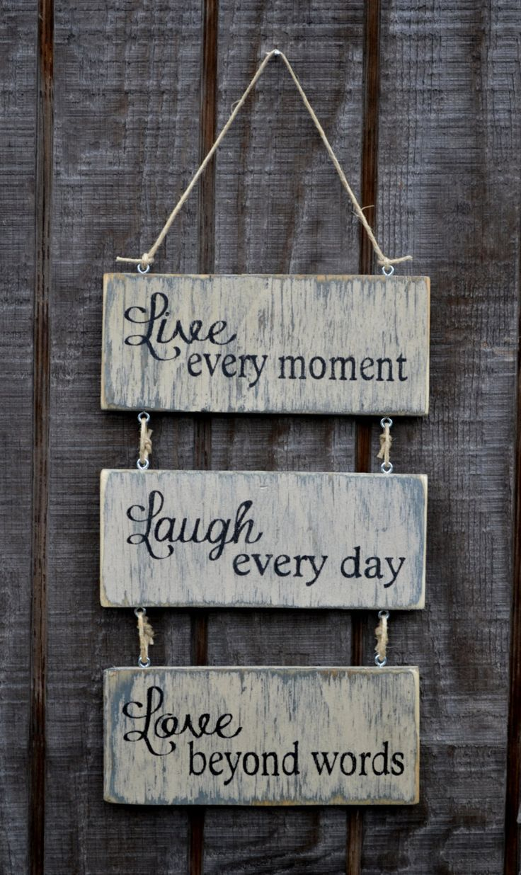 88 best live love laugh images on pinterest live laugh love live every moment laugh every day love beyond words wood hanging sign handpainted 3000 amipublicfo Image collections