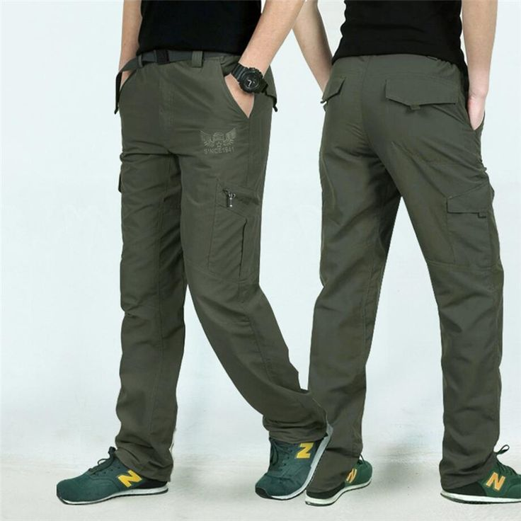 Quick Dry Cargo Pants Army Military Elastic Breathable Trekking Waterproof Trousers Tactical Pants Men Sweatpants Pantalon Homme #Affiliate