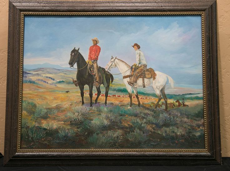 """""""Painting is my life. I am first, last and always a painter."""" - Will Sampson 1934-1987, buried in Grave Creek Indian Cemetery Okmulgee OK. The above piece is """"Watching the Herd"""" 1973, oil on canvas. His name may not strike a familiar note with lovers of the American West art, but those familiar with """"One Flew Over the Cuckoo's Nest"""" or """"The Outlaw Josey Wales"""" among a score of other films (22 to be exact 1975-1986) will remember him as the big, quiet Indian."""