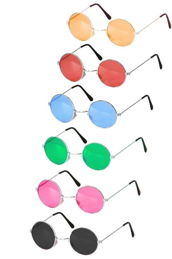 Hippiebrille Hippie Brille vers. Farben 70er 80er Jahre Flower Power Hippies WoW in Kleidung & Accessoires, Kostüme & Verkleidungen, Accessoires | eBay