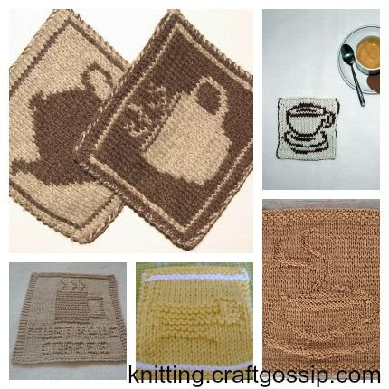 Every coffee cup should have its own coaster....check out these coffee-related knitting patterns