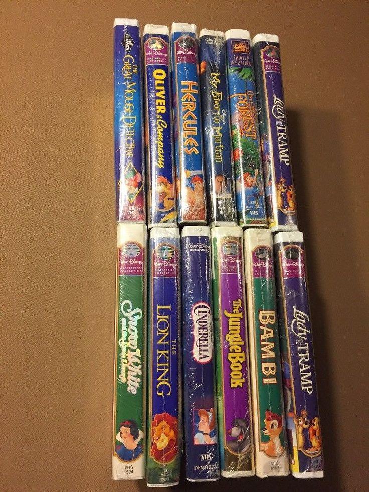 Disney VHS Movie Lot 12 New:Bambi,Jungle Book,Lion King,Snow White,Cinderella+++