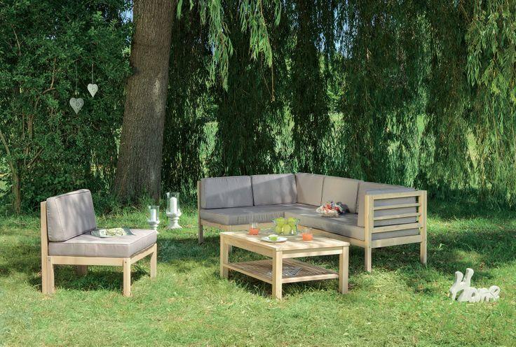Creeaza o oaza de relaxare in gradina ta. Triest Lounge Set, 2.999 lei #gradina #kikaromania #relaxare #mobilier #lemn