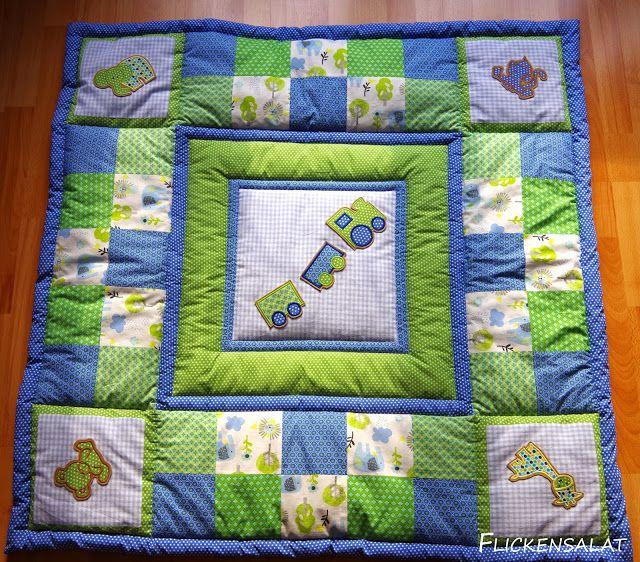 Patchwork Baby-Quilt, Krabbeldecke