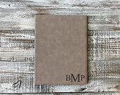 Light Brown Personalized Leather Folder, Custom Notepad, Custom Name Folder, --7288