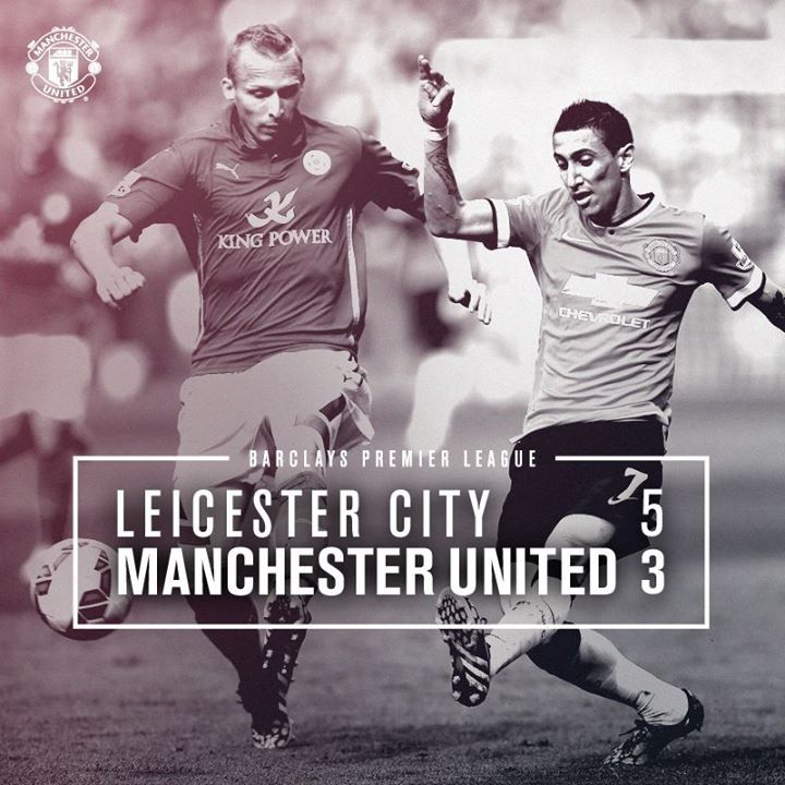 Barclays Premier League Match 5 : Leicester City 5-3 MU (Ulloa 17', pen. 83', Nugent pen. 62', Cambiasso 64', Vardy 79'/van Persie 13', Di Maria 16', Herrera 57') 21 September 2014 - King Power Stadium