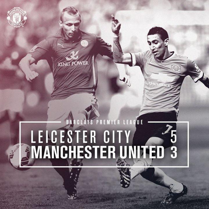 Barclays Premier League Match 5 : Leicester City 5-3 MU (Ulloa 17', pen. 83', Nugent pen. 62', Cambiasso 64', Vardy 79'/van Persie 13', Di Maria 16', Herrera 57') 21 September 2014 - King Power Stadium