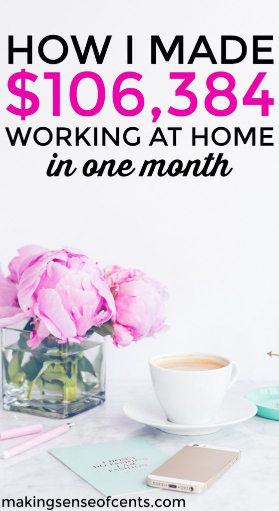 Are you interested in making money blogging or making money from home? Check out how Michelle made over $100,000 in just one month online through her blog and online blogging course. #affiliate