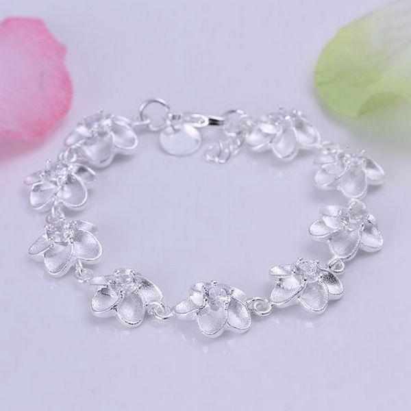 Шарм кристалл Сливы посеребренные браслеты новые объявления высокомарочным ювелирные изделия Рождественские подарки