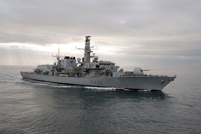 Royal Navy Type 23 frigate HMS Montrose.