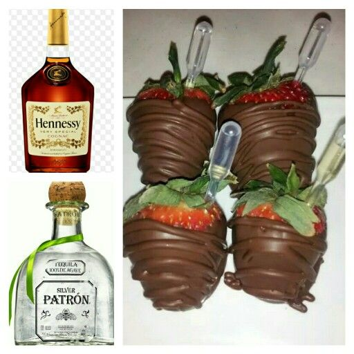 Liquor infused strawberries...your choice of henney, rum, vodka, champagne or patron