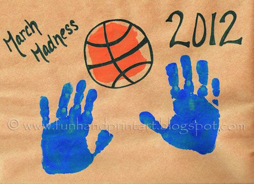 Handprint Basketball - March Madness Craft