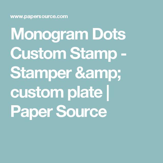 Monogram Dots Custom Stamp - Stamper & custom plate | Paper Source