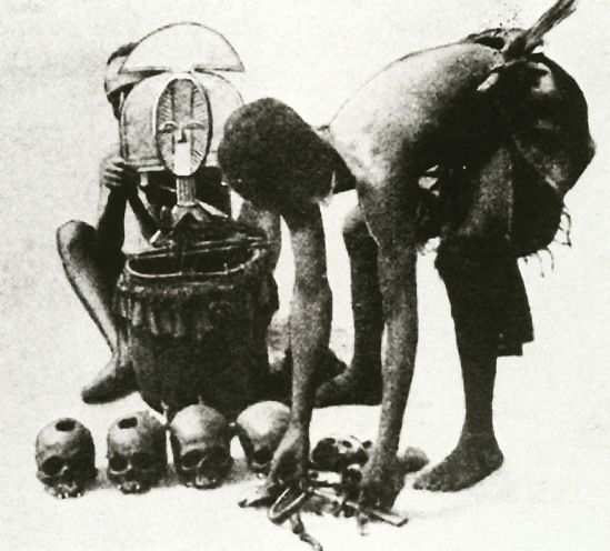 Voodoo And Masks White Black