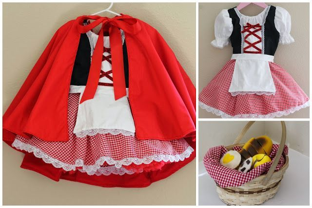 DIY Little red riding hood costume, for kids or adults. A cute but easy idea!