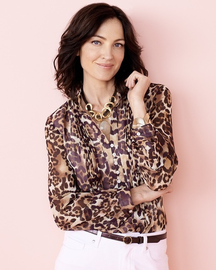 Leopard Tucked Blouse - #Coldwater Creek #ChenalShopping
